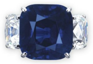 Lot 2061 - A Sapphire and Diamond Ring