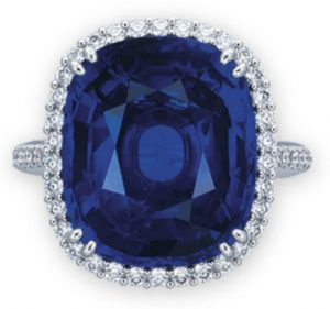 Lot 2046 - A Sapphire and Diamond Ring by Gimel