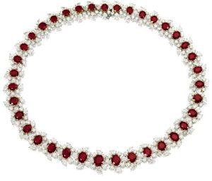Lot 1481 - A Fine Ruby and Diamond Neckace