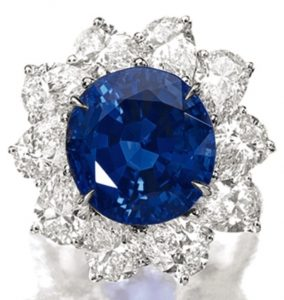 Lot 1457 - A Sapphire And Diamond Ring
