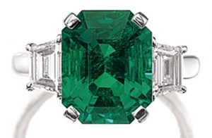 Lot 1469 - Fine Emerald And Diamond Ring