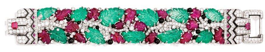 Lot 395 - Cartier Tutti Frutti Bracelet Stretched Out