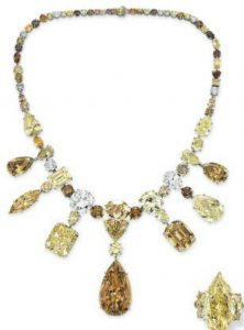 Lot 140 - The Necklace from the Suite of Colored Diamond And Diamond Jewelry by Jahan