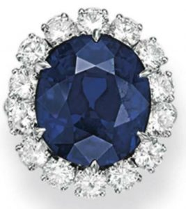 Lot 110 - A Sapphire And Diamond Ring, Mounted by Van Cleef & Arpels