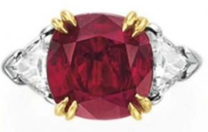 Lot 302 - A Ruby And Diamond Ring by Harry Winston