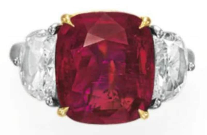 Lot 78 - A Ruby And Diamond Ring