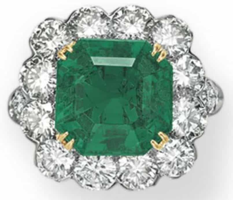 Lot 223 - An Emerald And Diamond Ring by Van Cleef & Arpels
