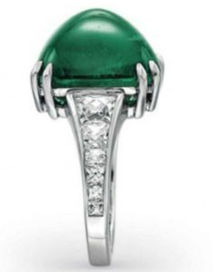 Lot 219 - Side View of An Emerald And Diamond Ring