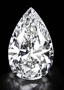 101.73-carat, pear-shaped, D-color, flawless Winston Legacy diamond