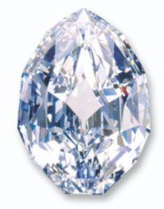 101.84-carat, modified pear-shaped, D-color, internally flawless Mouawad Splendor Diamond