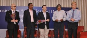 IIDGR President Jonathan   Kendall  (1st from left) and Commercial Director James Clark (3rd from left) during a visit to India in February 2014