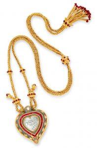 The Taj Mahal Diamond and Jade Pendant  and Necklace