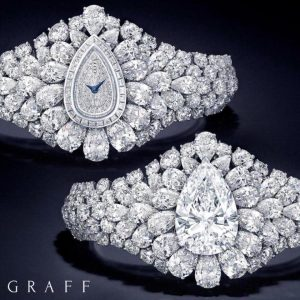 Graff Diamonds Fascination Watch and the bracelet formed by its transformation