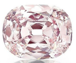 34.65-carat, fancy intense pink, cushion-cut  Princie Diamond