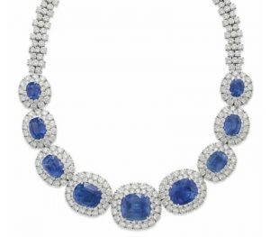 Lot 142 -  A Sapphire and Diamond Necklace