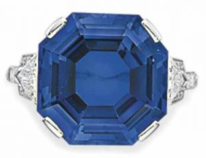Lot 234 - A Fine Sapphire  and Diamond Ring by Bulgari