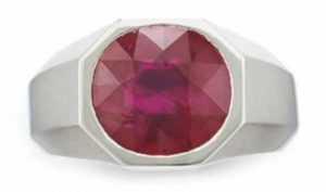 Lot 268 - A Fine Ruby Ring by Cartier