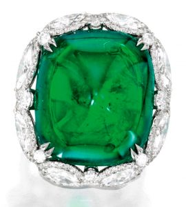 Lot 152 - Platinum, Emerald and Diamond Ring