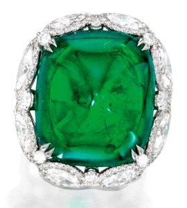 Lot 152 - Platinum, Emerald and Diamond Ring