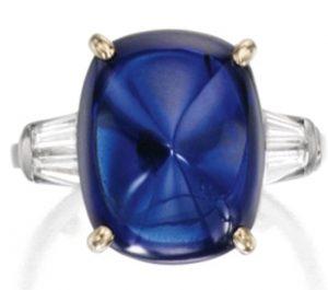 Lot 358 - Important Platinum, 18k-Gold, Sapphire and Diamond Ring