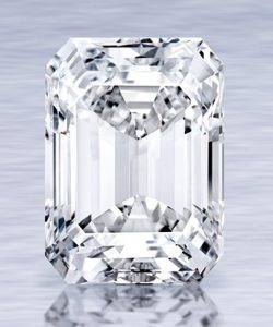 Lot 357 - The Ultimate Emerald-Cut Diamond