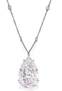 Lot 169 - Highly important platinum and diamond pendant necklace