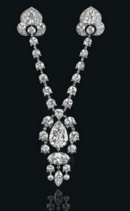 A Belle-Epoque Diamond Devant-De-Corsage Brooch by Cartier, circa 1912, that sold for US$17.8 million