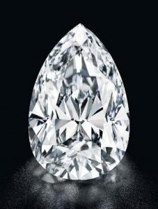 55.2-carat, D-color, pear-shaped, Flawless diamond