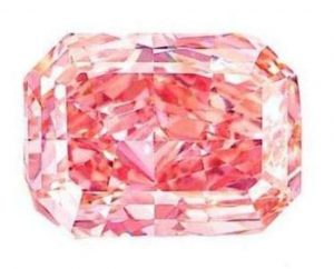 5.18-carat, rectangular-cut, fancy vivid pink diamond