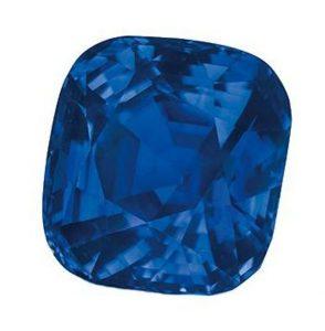 35.09-carat, cushion-cut, Kashmir blue sapphire