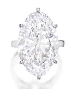 Lot 363 - 22.30-carat, oval-cut, D-color, Internally Flawless Diamond Ring