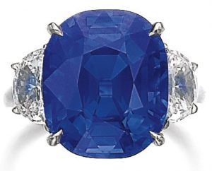 Lot 417 - Very Fine Sapphire and Diamond Ring