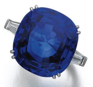 Lot 434 - Important Sapphire and Diamond Ring by Bulgari