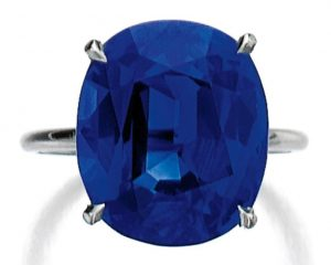 Lot 445 - Fine Sapphire Ring