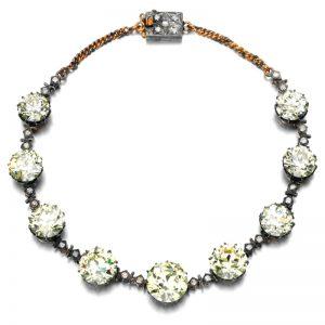 Lot 480 - An Impressive Fancy Yellow Diamond and Diamond Necklace