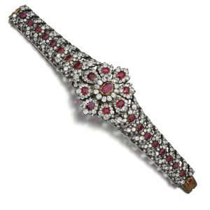 Lot 491 - Ruby and Diamond Bracelet, second-half of the 19th-century