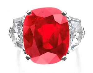 Lot 502 - Sunrise Ruby, Superb and Extremely Rare Ruby and Diamond Ring by  Cartier