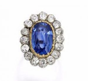 The Sapphire and Diamond Cluster Ring of the Suite