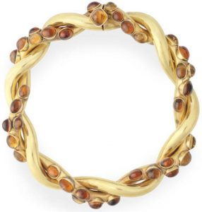 Lot 75 - A Retro Citrine-Set Twist Necklace by Chanel, circa 1954-71