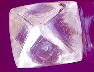 76.07-carat, octahedral rough diamond recovered from ALROSA's  Jubilee  Diamond Mine