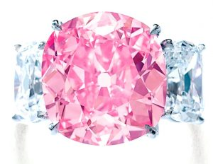 Lot 460 - The Historic Pink, Magnificent Fancy Vivid Pink Diamond Ring