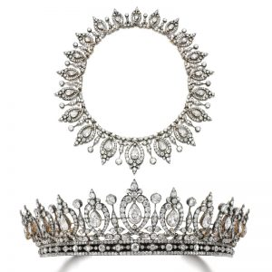 Lot 493 - Diamond Tiara/Necklace, Last Quarter of the 19th-Century