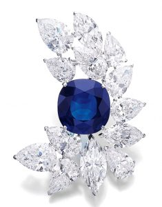 Lot 499 - Magnificent Sapphire and Diamond Brooch by Cartier
