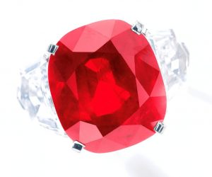 Another View of the Sunrise Ruby - the World's Most Expensive Ruby and Colored Gemstone