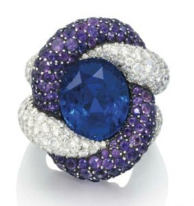 Lot 271 - A Sapphire, Amethyst And Diamond Ring by JAR