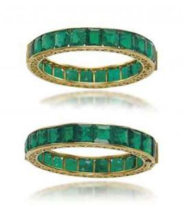 Lot 314 - A Superb Pair of Antique Emerald Bangles