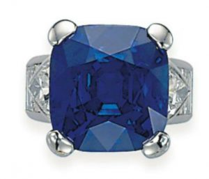 Lot 351 - An Exceptional Sapphire and Diamond Ring