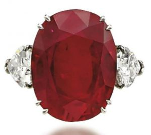 Lot 317 - An Impressive Ruby and Diamond Ring.