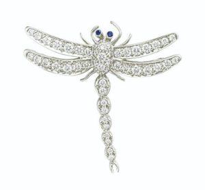 Lot 680 Tiffany & Co. Diamond Dragonfly Brooch