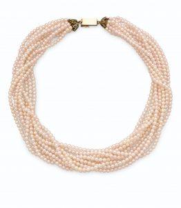 Lot 697 - Cultured Pearl Torsade Necklace